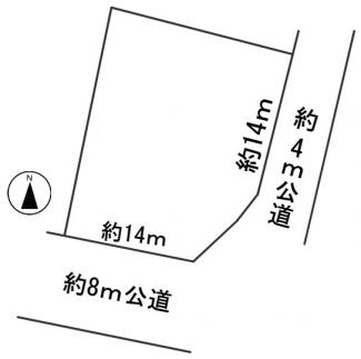 【区画図】57560 岐阜市加野土地
