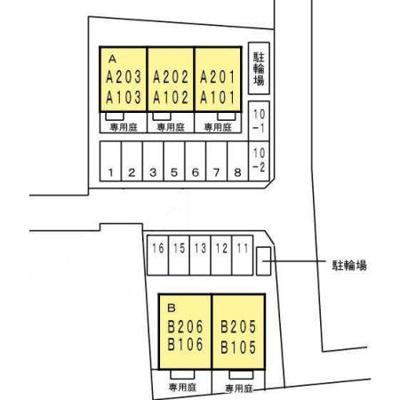 【区画図】サンシャイン A棟