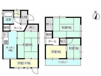 土地面積52平米、建物面積51.54平米、4K