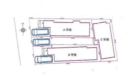 【区画図】練馬区谷原2丁目 新築戸建 A号棟 5280万円