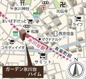【地図】ガーデン氷川台ハイム