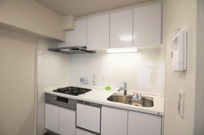 収納もたっぷりの真新しいキッチン。