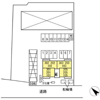 【区画図】リビエールⅡ
