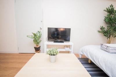 観葉植物があり、癒しの空間を演出します♪