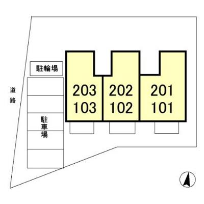 【区画図】ハイムカトレアⅢ