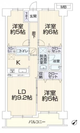 3LDK 2649万円(税込)