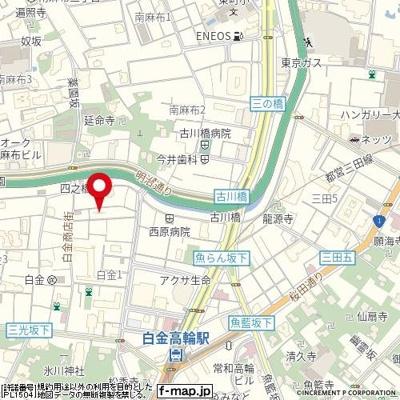 【地図】パレステュディオ白金