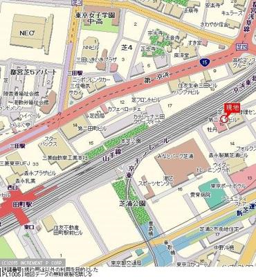 【地図】パレステュディオ田町
