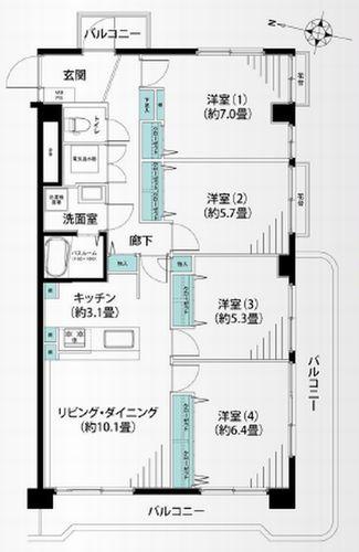藤沢市亀井野 トーカンマンション藤沢六会 中古マンション