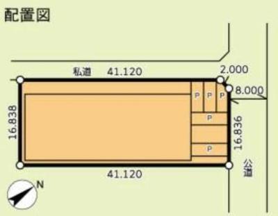 【区画図】足立区新田 準工業地域 売工場