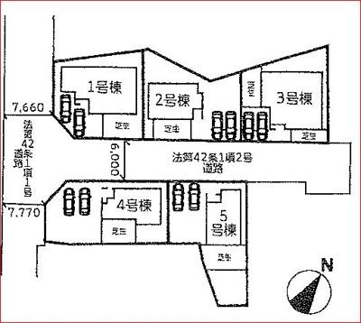【区画図】守山市立田町 分譲5区画 3号棟