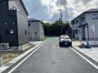 【前面道路含む現地写真】守山市立田町 分譲5区画 3号棟