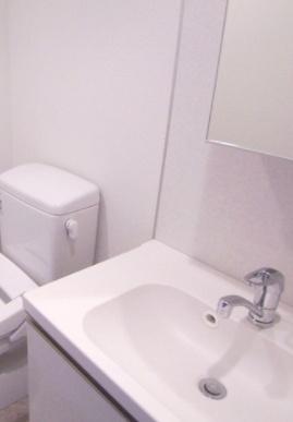 嬉しい独立洗面台。