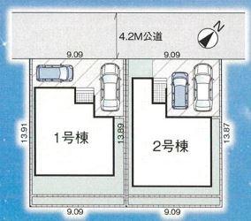 【区画図】西区土屋新築戸建て~サービスルーム付~