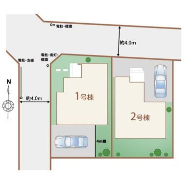 【区画図】東村山市富士見町3丁目 全2棟 2号棟