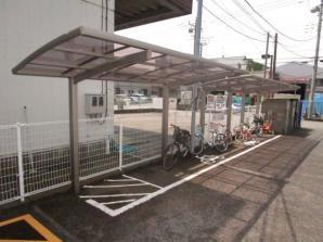 駐輪場・バイク置き場です。ハイアット厚木