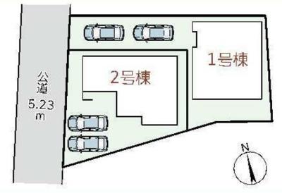 【全2棟の2号棟】カースペース並列2台分有(車種による)!物件に関するお問い合わせはお気軽にどうぞ♪