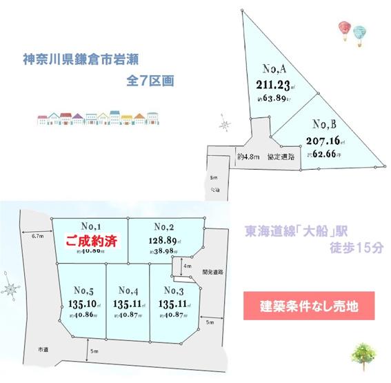 売主物件◆「鎌倉」にて心豊かな暮らしを!まだまだお好きな区画お選びいただけます◎きれいに整形された分譲地【建築条件なし】のためお好きなハウスメーカーで建築設計が実現♪