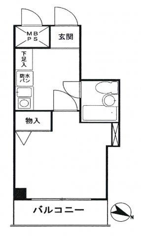 413号室間取り図