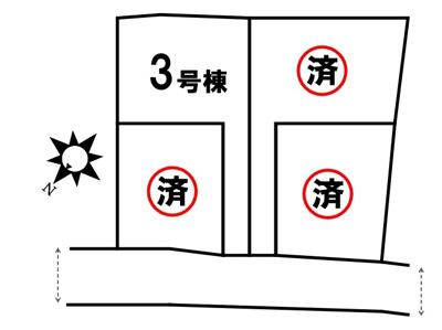 【区画図】新築戸建 四條畷市田原台7丁目 3号棟(令和4年1月下旬完成予定)