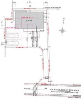 【区画図】郡山市大槻町原田東新築一戸建て