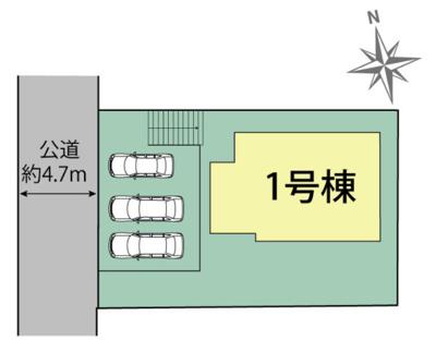 【区画図】三木市志染町中自由が丘 新築戸建て