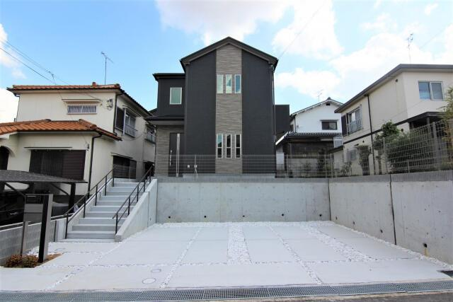 【外観パース】三木市志染町中自由が丘 新築戸建て