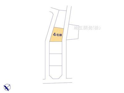 【区画図】新築分譲住宅 狭山市柏原15期 全6棟(4号棟)