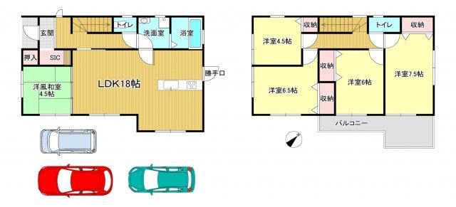 香芝市磯壁 新築(全2棟)1号棟