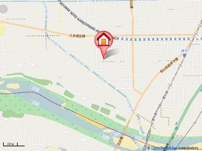 【地図】Pomme de Pin B棟