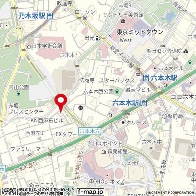 【地図】ガリシアレジデンス六本木