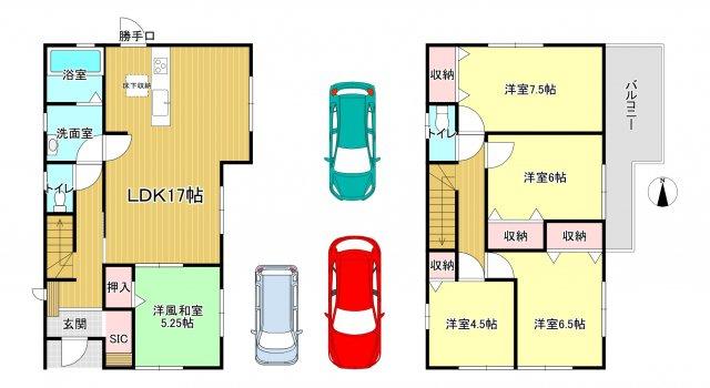香芝市磯壁 新築(全2棟)2号棟
