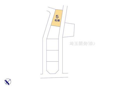 【区画図】新築分譲住宅 狭山市柏原15期 全6棟(5号棟)