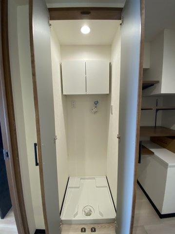 洗濯機置場 洗濯防水パン&水栓交換済