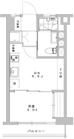 1DK 価格2480万円 専有面積25.50m2 バルコニー面積3.60m2