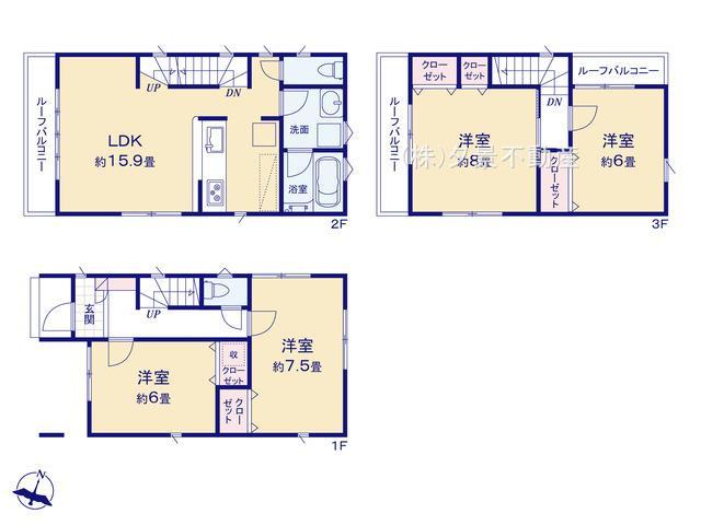 大宮区大成町3丁目183-2(1号棟)新築一戸建てグランパティオ