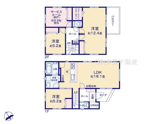 【区画図】北区本郷町978(1号棟)新築一戸建てケイアイスタイル