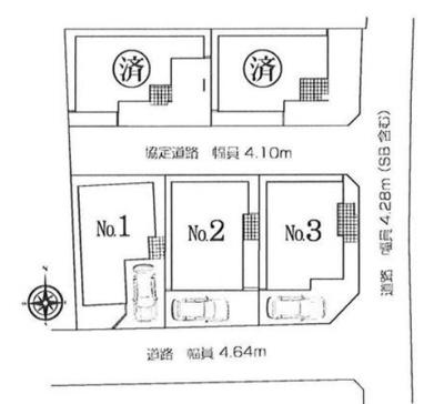 【全5棟の3号棟】南東角地に位置する区画です!物件に関するお問い合わせはお気軽にどうぞ♪