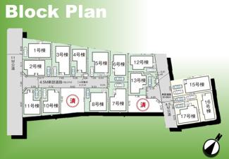 【区画図】足立区古千谷本町3丁目新築戸建て【全17棟】
