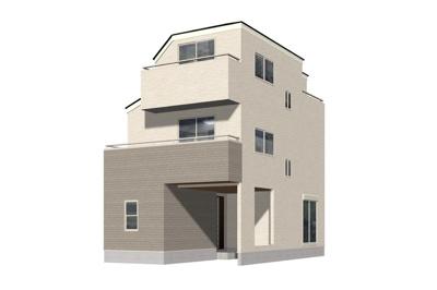 【外観】足立区皿沼1丁目新築戸建て【全7棟】
