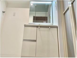 洗面台だけでなく、洗濯パンやクッションフロアも新調&貼替済!