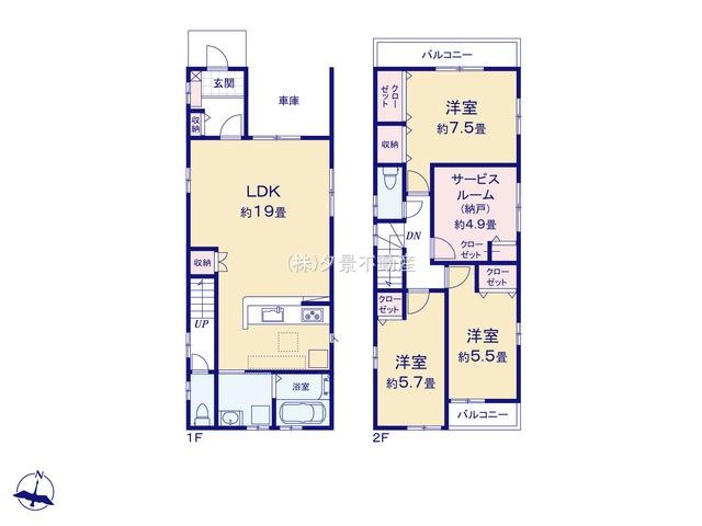 【区画図】浦和区大東3丁目26-14(1号棟)新築一戸建てRicca
