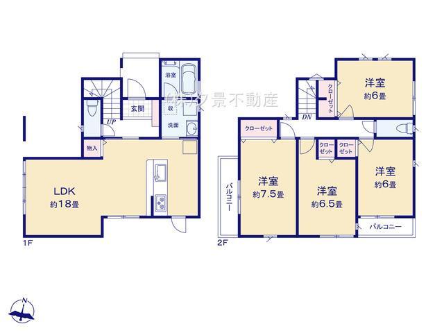 【区画図】南区曲本2丁目14-17全1戸新築一戸建てグランパティオ