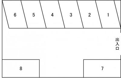 【区画図】元町駐車場H