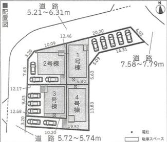 【区画図】裾野市佐野第3 新築戸建 1号棟