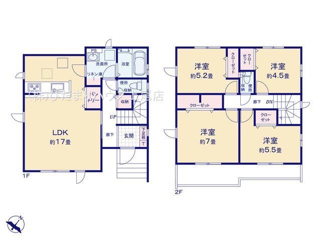蓮田市黒浜 3期 新築一戸建て グラファーレ 01