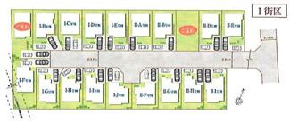 【区画図】国分寺市光町1丁目 Ⅰ街区 I-I号棟 仲介手数料無料