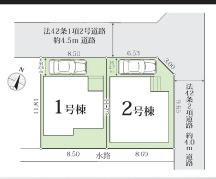 【区画図】寒川町一之宮第6期 新築戸建 全2棟2号棟