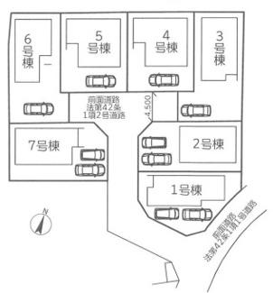 【区画図】秦野市三屋 新築戸建 全7棟1号棟