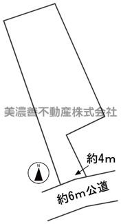 【区画図】57179 岐阜市西鶉土地